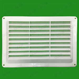 White Vent With Fly Screen Plastic Louvre 160 X 255mm Free