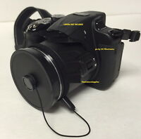 Slip-on Front Lens Cap Directly To Camera Fuji S2950hd S2960hd Finepix+holder2