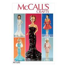 McCALL'S SEWING PATTERN CRAFTS 11 1/2 DOLL CLOTHES DRESSES