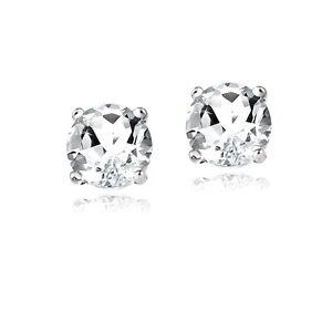 2ct-White-Topaz-925-Sterling-Silver-Stud-Earrings-6mm