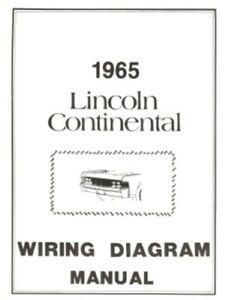 lincoln 1965 continental wiring diagram manual 65 ebay rh ebay com