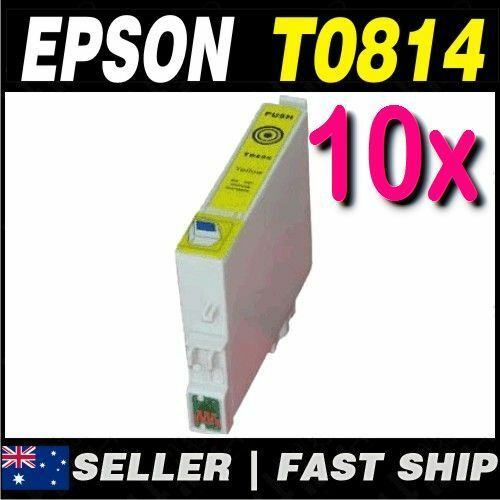 10x Yellow T0814 81N Compatible Ink for PRINTER Artisan 725, 730, 835, 837