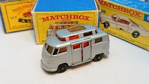 Matchbox-Lesney-No-34c-Volkswagen-Hi-Top-Camper-Primera-Edicion-Con-Caja-E-en-muy-buena-condicion