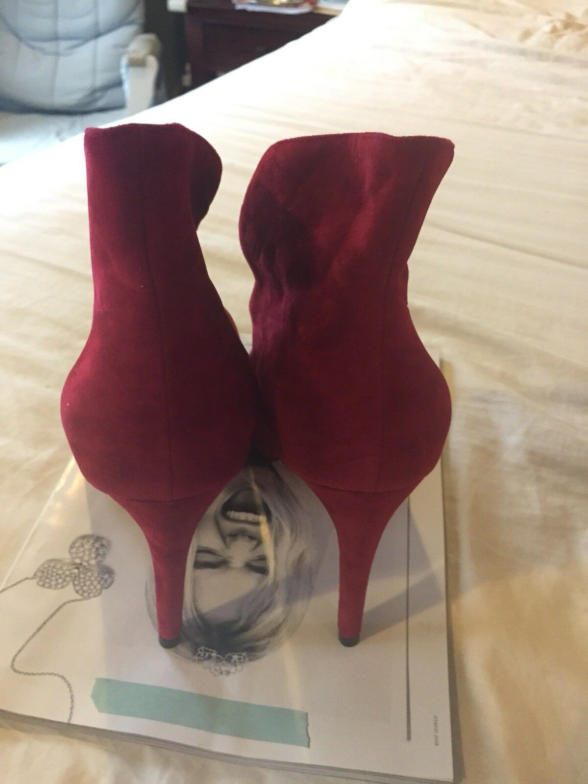 Red Suede Suede Red FSJ Stiletto Heels/Pumps Size11 6f8738