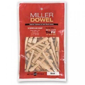 Miller-1X-Standard-Dowels-40-pack-Birch-Oak-Cherry-Walnut-1X-Range