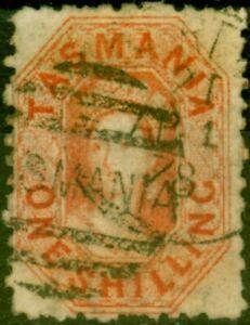 Tasmanien 1869 1s Vermilion SG77 Fein Gebraucht