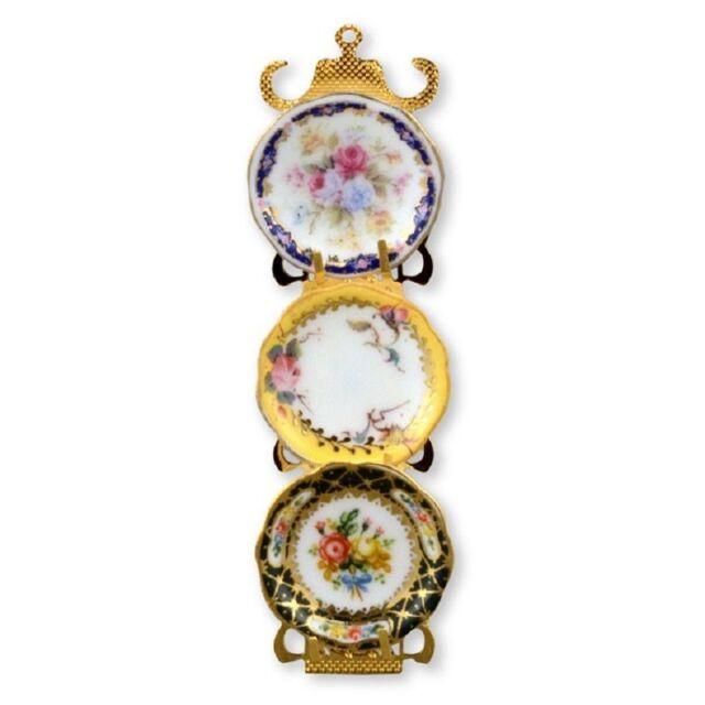 Dollhouse Miniature Reutter Porcelain Victorian Plate Rack