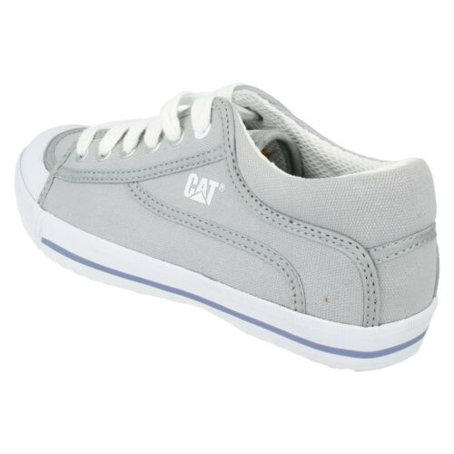 CATERPILLAR LADIES LACE UP CANVAS TRAINERS FLAT CASUAL PUMPS SHOES SIZE RENDEZ