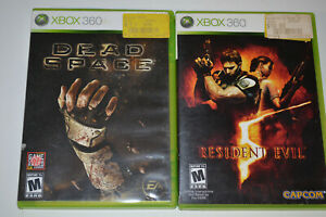 Dead-Space-Resident-Evil-5-Microsoft-Xbox360-Survival-Horror-Lot