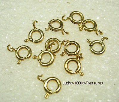 Solid 14k 5mm Spring Rings With Open Rings Please Select Lot Size