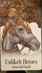 2015 UNC $1 UNLIKELY HEROES GREAT /& SMALL SANDY THE WAR HORSE AL//BR COIN ON CARD