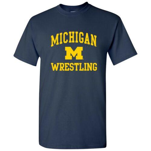 Michigan Wolverines Arch Logo Wrestling T-Shirt Navy