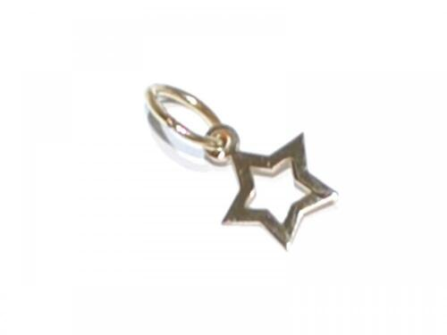 9CT GOLD STAR OUTLINE CHARM PENDANT 0.25g 17mm