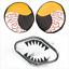 XFR Yamaha Banshee YFZ350 87-06 JAWS FRONT BUMPER YEL BLOODSHOT HEADLIGHT COVERS