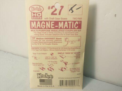 Kadee #27 Medium Underset Shank Couplers 2 pair HO Scale #5 Draft Gear Box