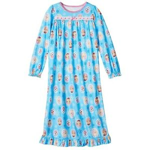 NWT DISNEY FROZEN ANNA ELSA & OLAF FLANNEL NIGHTGOWN PJ ...