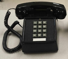 Cortelco, Black Retro, Push Button Corded Desk Phone, Vintage Look, Mint