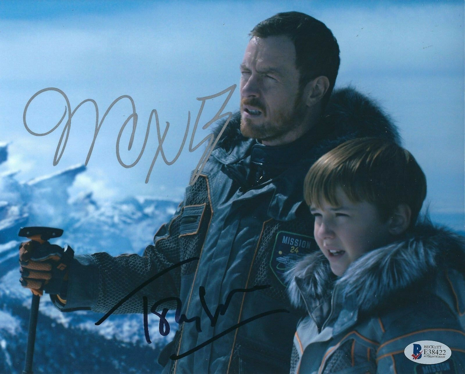 Max Jenkins Toby Stephens Signed 'Lost In Space' 8x10 Photo BAS Beckett E38422