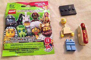 LEGO SERIES 13 SEALED Hot Dog Guy Minifigure Costume Sausage Mascot 71008 Bun