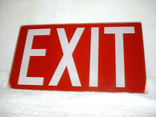 Vintage Red Glass Exit Sign 12x 675 14 Thick