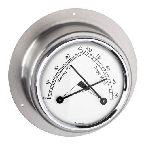 TFA 45.2031.54 Maritim Schiffsthermometer Analogico Igrometro Acciaio Inox