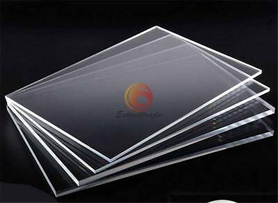 200mm US Stock 2pcs Clear Acrylic Sheets Transparent PMMA Panels 200mm 2mm
