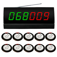 SINGCALL Wireless Waiter Paging Systems 10 Pagers Beeper and 1 Receiver