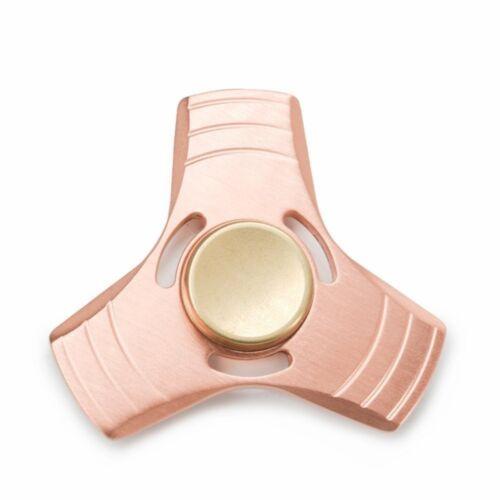 Tri Fidget Kupfer Spinner dreht 2-3min Hand Metall Stressabbau Kreisel EDC