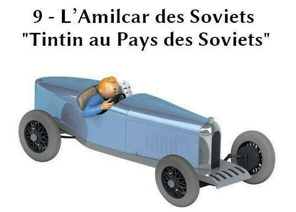 Car Tintin the amilcar of the soviets soviets  1 24  New in box Collection  tin tin