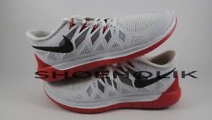 sports shoes 0be55 57b1d Details about Brand New Nike Free Run 5.0 size 9 White/Black/Red