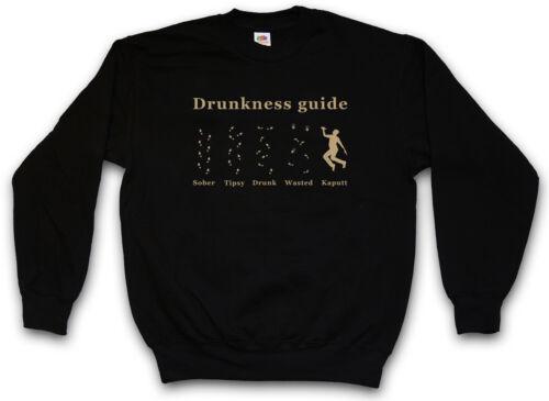 Pullover Drunkness Drunk Boose Drinker Guide Säufer Barfly Sweatshirt Wasted EEw6qRP