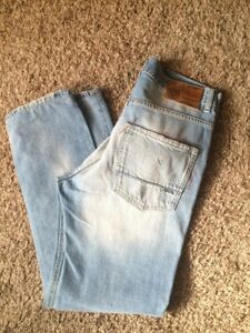 cheaper 6fea6 ab97c Details about Franklin & Marshall Jeans Men's Rocker Size 33 Light Wash  Skinny fit Zip Fly