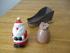 Pottery Barn Santa /& Rudolph Salt /& Pepper Shakers