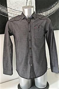 TOMMY-HILFIGER-DENIM-american-brand-jolie-chemise-grise-Taille-S-EXCELLENT-ETAT