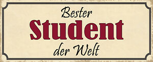 Best Student the World Tin Sign Shield Arched Tin Sign 10 X 27 CM K1153