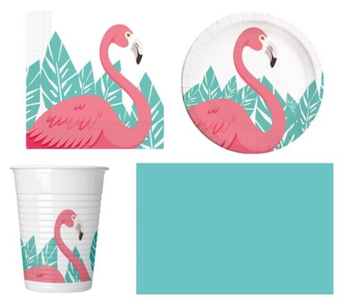 Pink flamingo birthday party range-tableware supplies balloons and decoration