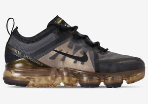 Details zu Mens Nike Air Vapormax 2019 Trainers Shoes Black Gold AR6631 002 UK 12 EU 47