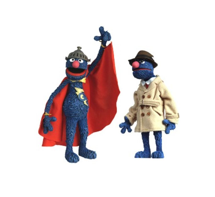 WW 2005 Palisades Toys Exclusive  Sesame Street - SUPER GROVER Figure