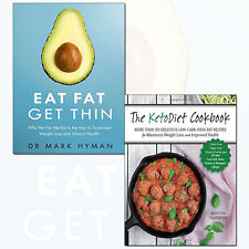 KetoDiet Cookbook and Eat Fat Get Thin 2 Books Collection Set Paperback NEW BRAN