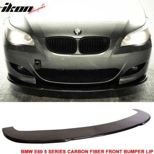 Fits 04-10 BMW M5 Carbon Fiber Front Bumper Lip