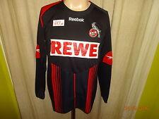 "1.FC Köln Reebok Langarm Auswärts Spieler Version Trikot 2009/10 ""REWE"" Gr.M"