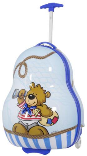 Valise de voyage trolley enfants Coque rigide en polycarbonate ours bleu taille M