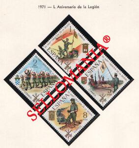 1971-L-ANIVERSARIO-DE-LA-LEGION-EDIFIL-2043-46-MNH-MILITAR-ARMY-TC21029