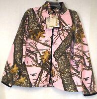 Ladies/womens Mossy Oak Pink Camo Fleece Deer Hunting Jacket/coat Fast Ship 1d