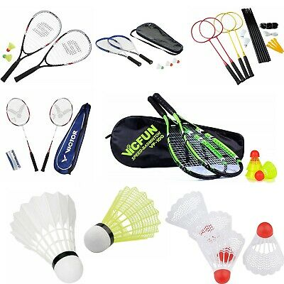 Badminton 2019 Latest Design Badminton Badmintonschläger Set Federball Racket Speed Schläger Komplettsets Pure Whiteness