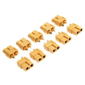 10-Pairs-XT60-Male-Female-Bullet-Connectors-Plugs-For-RC-Lipo-Battery-Parts
