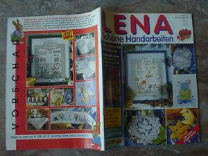 LENA-schoene-Handarbeiten-90er-J-komplett-m-Anleitungen-Heft-1-98-E-80237-retro