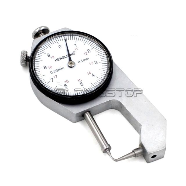 round measure head 0.1mm X 10mm INSPECTION DIAL THICKNESS GAUGE GAGES