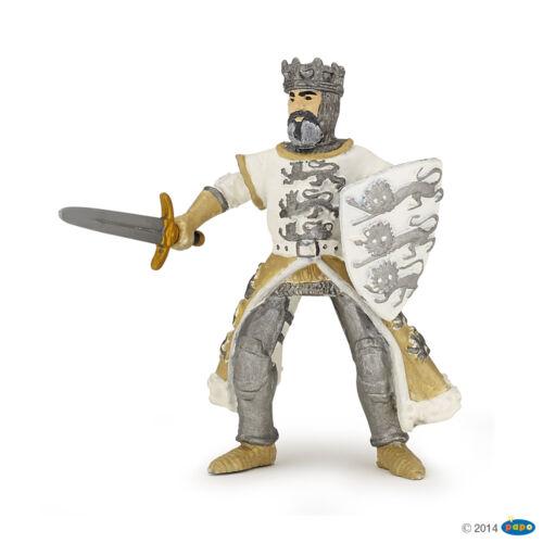 RICHARD COEUR DE LION BLANC 9 cm chevalier et châteaux Papo 39783