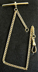 Rolled-Gold-Solid-Pocket-Watch-Albert-Chain-Single-Close-Curb-Fob-FA42